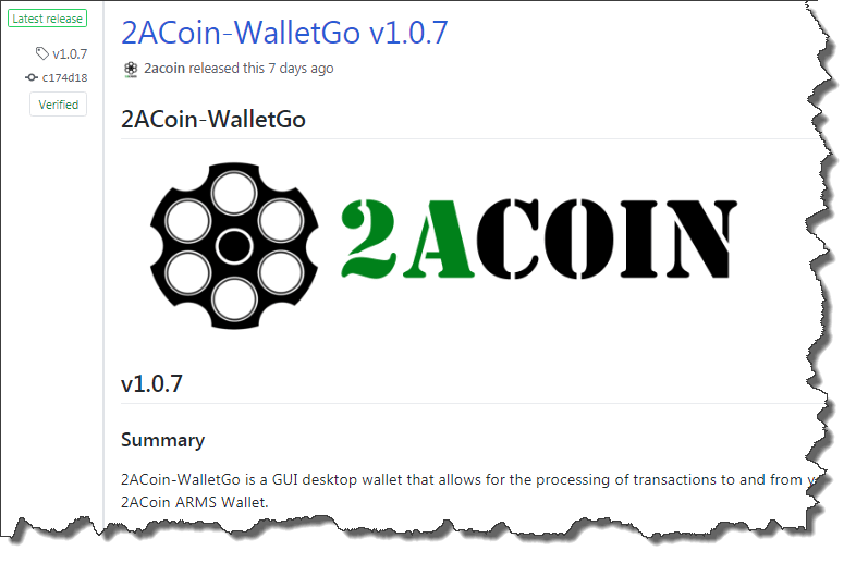 2ACoin WalletGo v1.0.7
