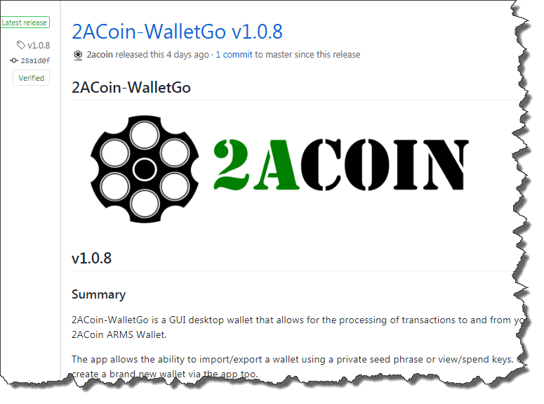 2ACoin-WalletGo v1.0.8