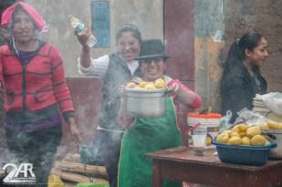 Trucha (fisch) und Kartoffeln..