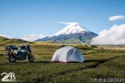 Camping am Fuße des Vulkanes