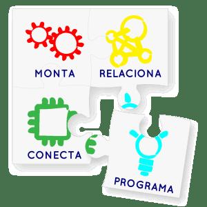monta - relaciona - conecta - programa