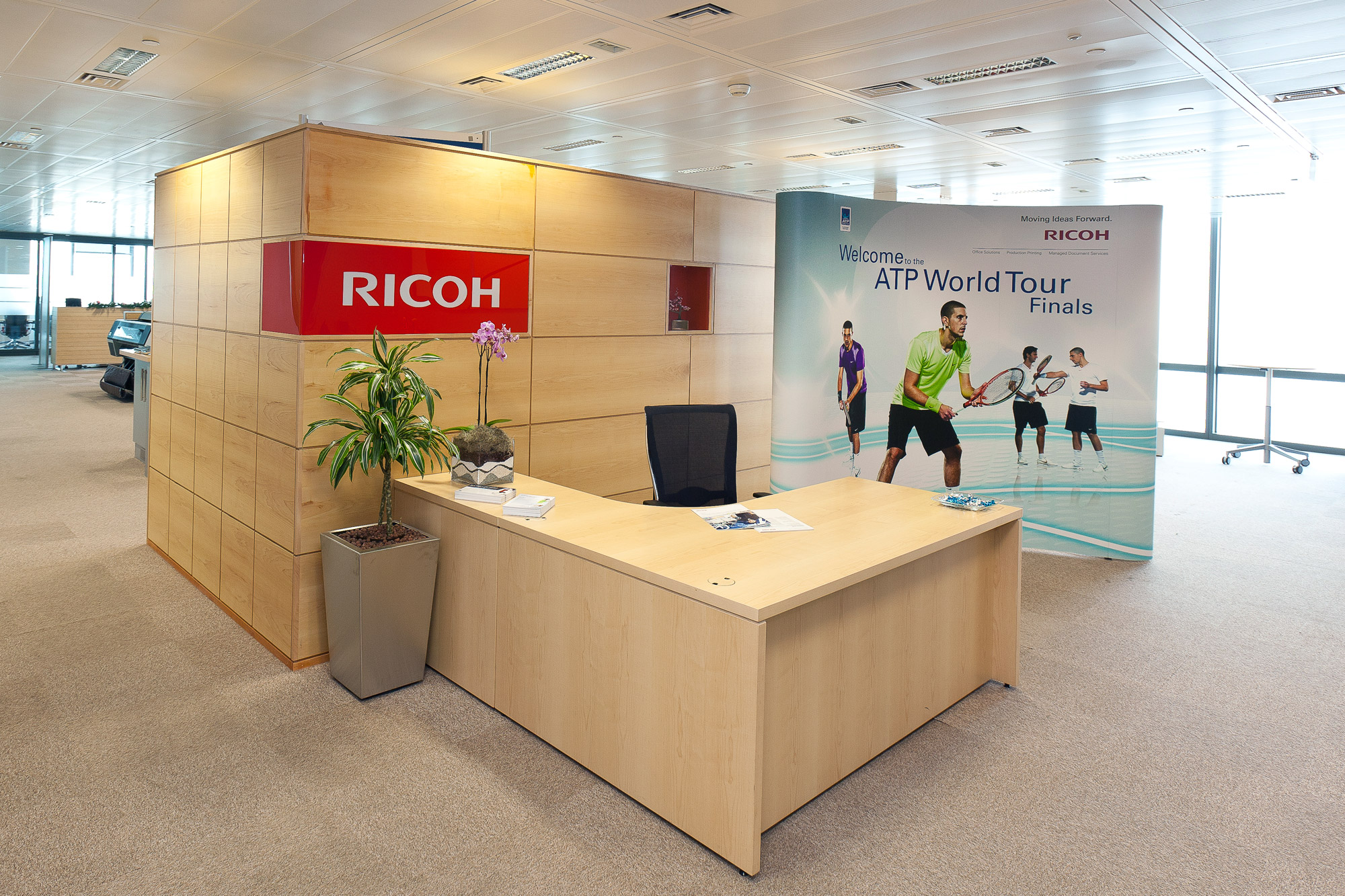 Event design for Ricoh at the ATP World Tour Finals