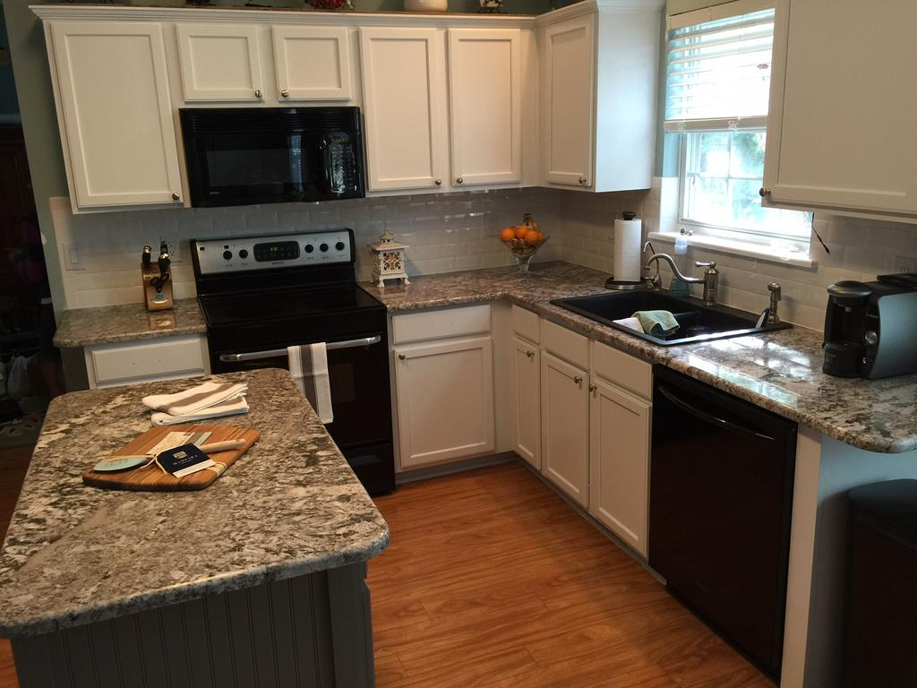 Pure White Cabinets With Dovetail Gray Island 2 Cabinet Girls