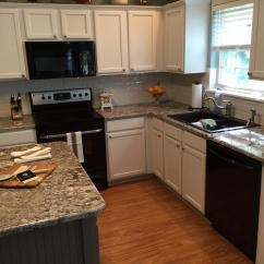 Gray Cabinets Kitchen Cabinet Trim Installation Pure White With Dovetail Island - 2 ...