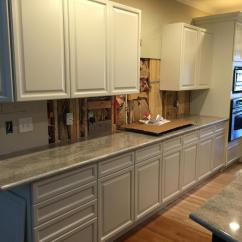 Kitchen Island Lighting Fixtures Portable Cabinets China White With Pewter Pinstripe - 2 Cabinet Girls