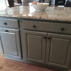 White Kitchen Island Ikea Pantry Cabinets Niveous Cabinets, Stone Harbor Pinstripe Glaze & Taos ...