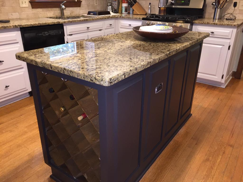 steel kitchen island remodeling a small gray cloud cabinets & sherwin williams caviar - 2 ...