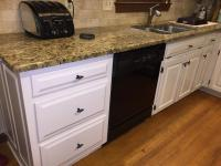 Gray Cloud cabinets & Sherwin Williams Caviar island - 2 ...