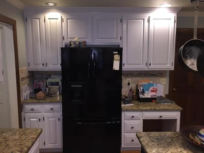 Gray Cloud cabinets & Sherwin Williams Caviar island - 2 ...