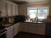 Light Pewter cabinets with Black Glaze pin stripes - 2 ...