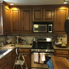 Dark Blue Kitchen Cabinets Aid Counter Depth Refrigerator Gray Cloud & Sherwin Williams Caviar Island - 2 ...