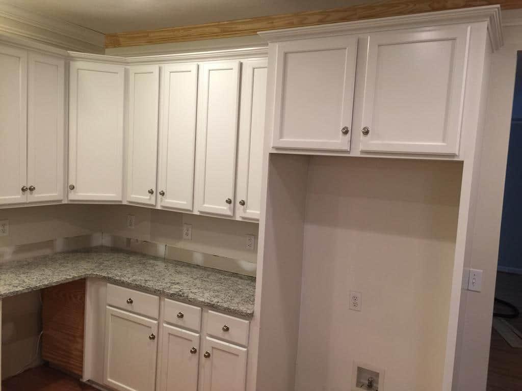custom kitchen cabinet delta linden faucet toque white 2 day transformation - girls