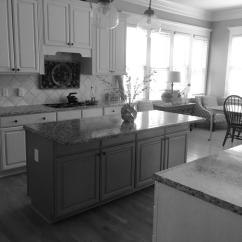 Distressed Kitchen Island Lights Fixtures Sherwin Williams Antique White And Province Blue - 2 ...