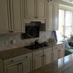 White Distressed Kitchen Cabinets Large Mats Sherwin Williams Antique And Province Blue - 2 ...