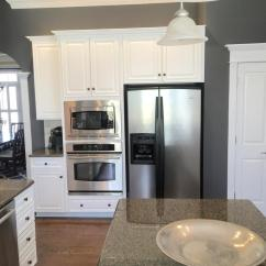 Kitchen Cabinets Crown Molding Island Kitchens Sherwin Williams Extra White And Benjamin Moore Steel Wool ...