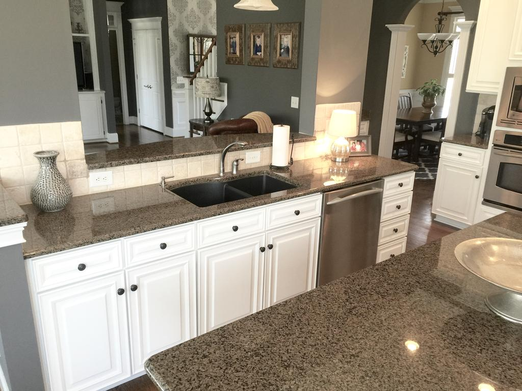 distressed kitchen island cabinets wall mounted sherwin williams extra white and benjamin moore steel wool ...