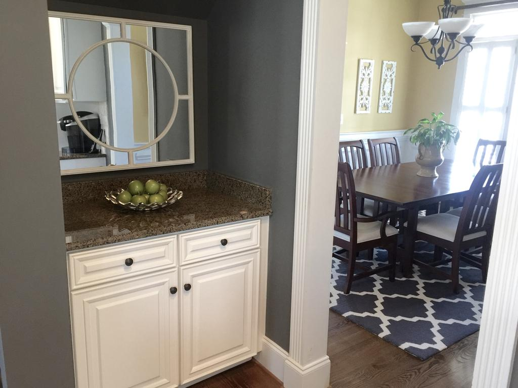 Sherwin Williams Extra White and Benjamin Moore Steel Wool  2 Cabinet Girls