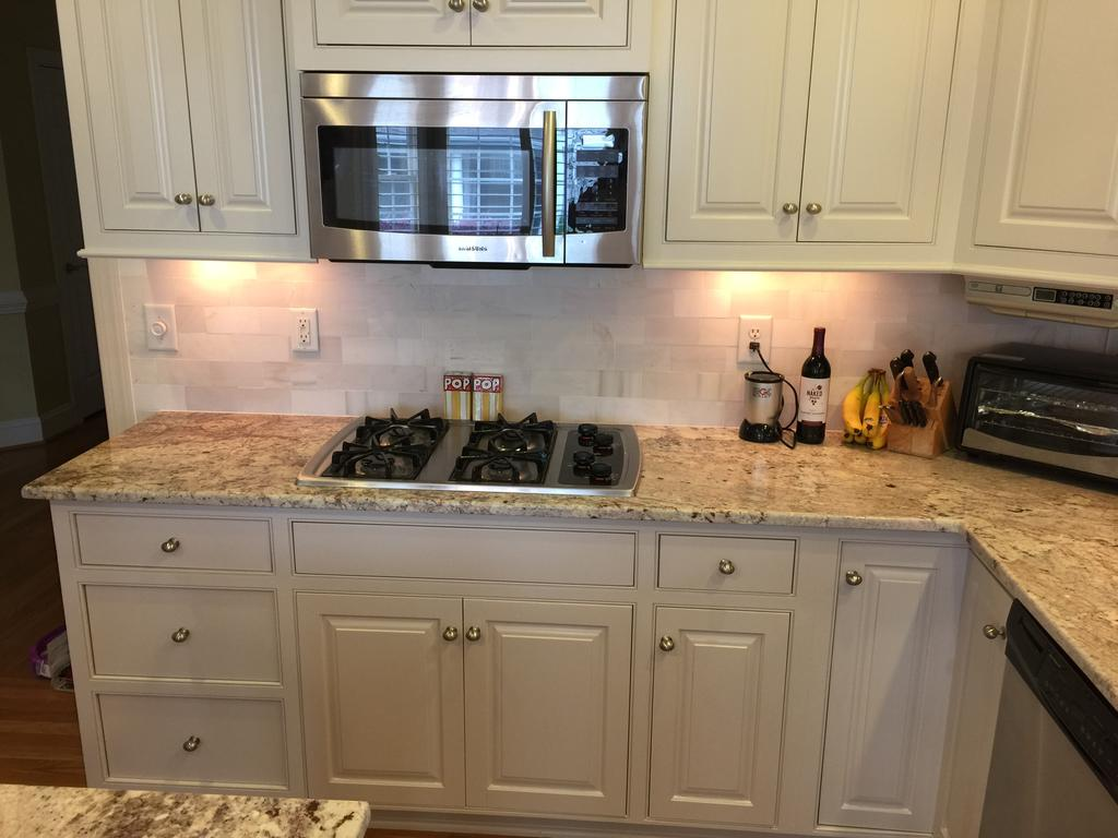 kitchen backsplash tile curtain panels balboa mist update - 2 cabinet girls