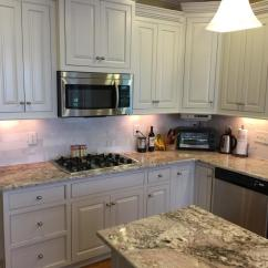Black And White Tile Kitchen Backsplash Metal Cabinets Balboa Mist Update - 2 Cabinet Girls
