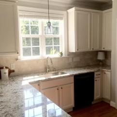 Hardware For White Kitchen Cabinets Single Handle Faucet With Sprayer Balboa Mist - Lightened 50% 2 Cabinet Girls