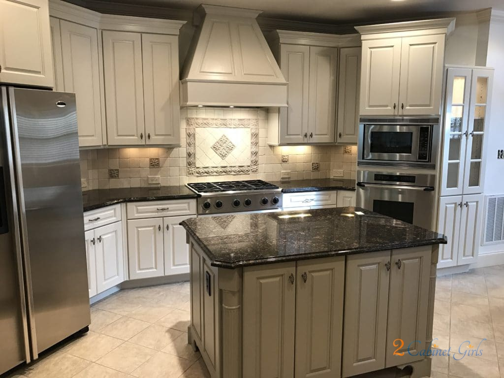 gray kitchen cabinets cost to update edgecomb & ashley - 2 cabinet girls