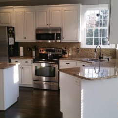 Modern Kitchen Knobs Barn Sinks For Extra White & Anew Gray Pinstripe - 2 Cabinet Girls