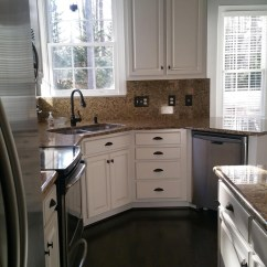 Kitchen Cabinet Colors Gilbert Clock Extra White & Anew Gray Pinstripe - 2 Girls