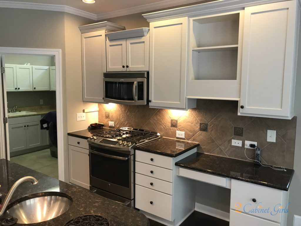 Balboa Mist Painted Kitchen Cabinets Amp Laundry Room In