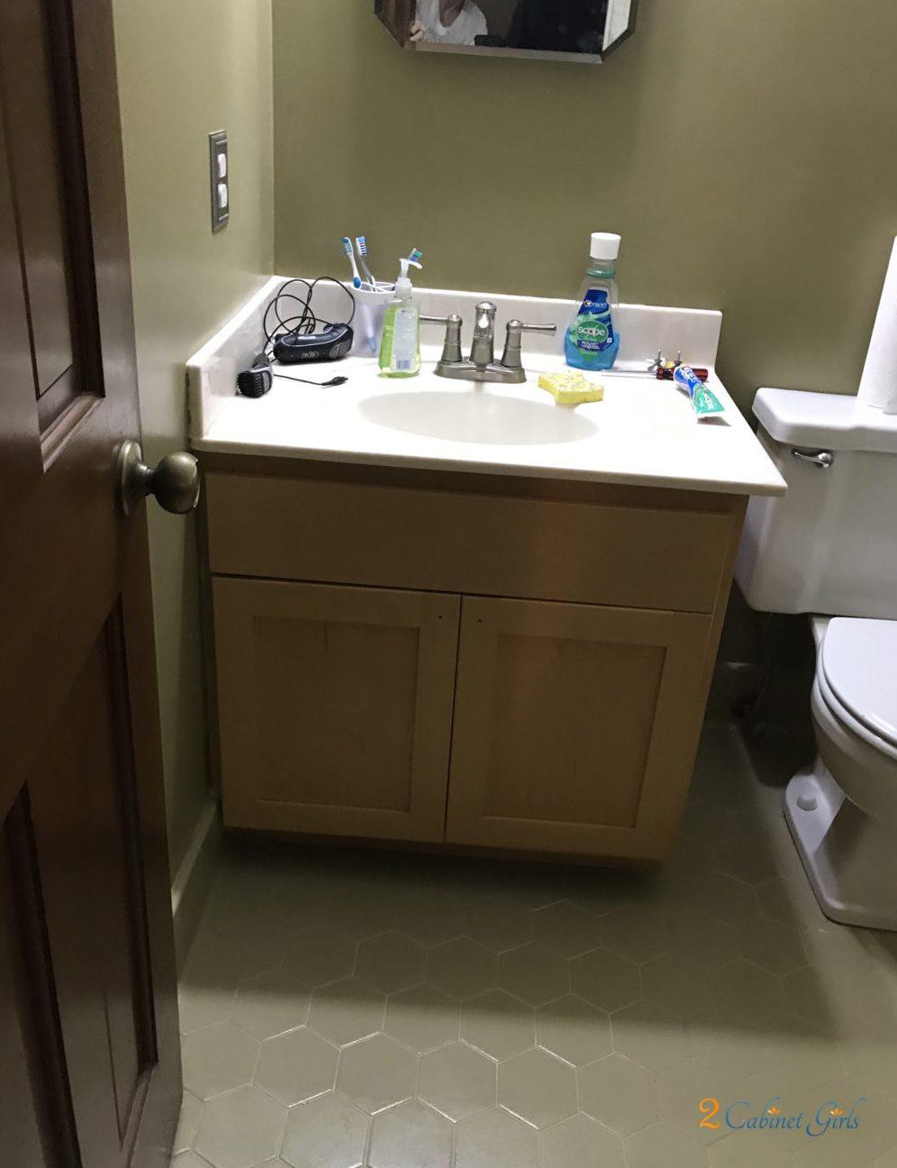 Sedona Brown Bathroom 2 Cabinet Girls