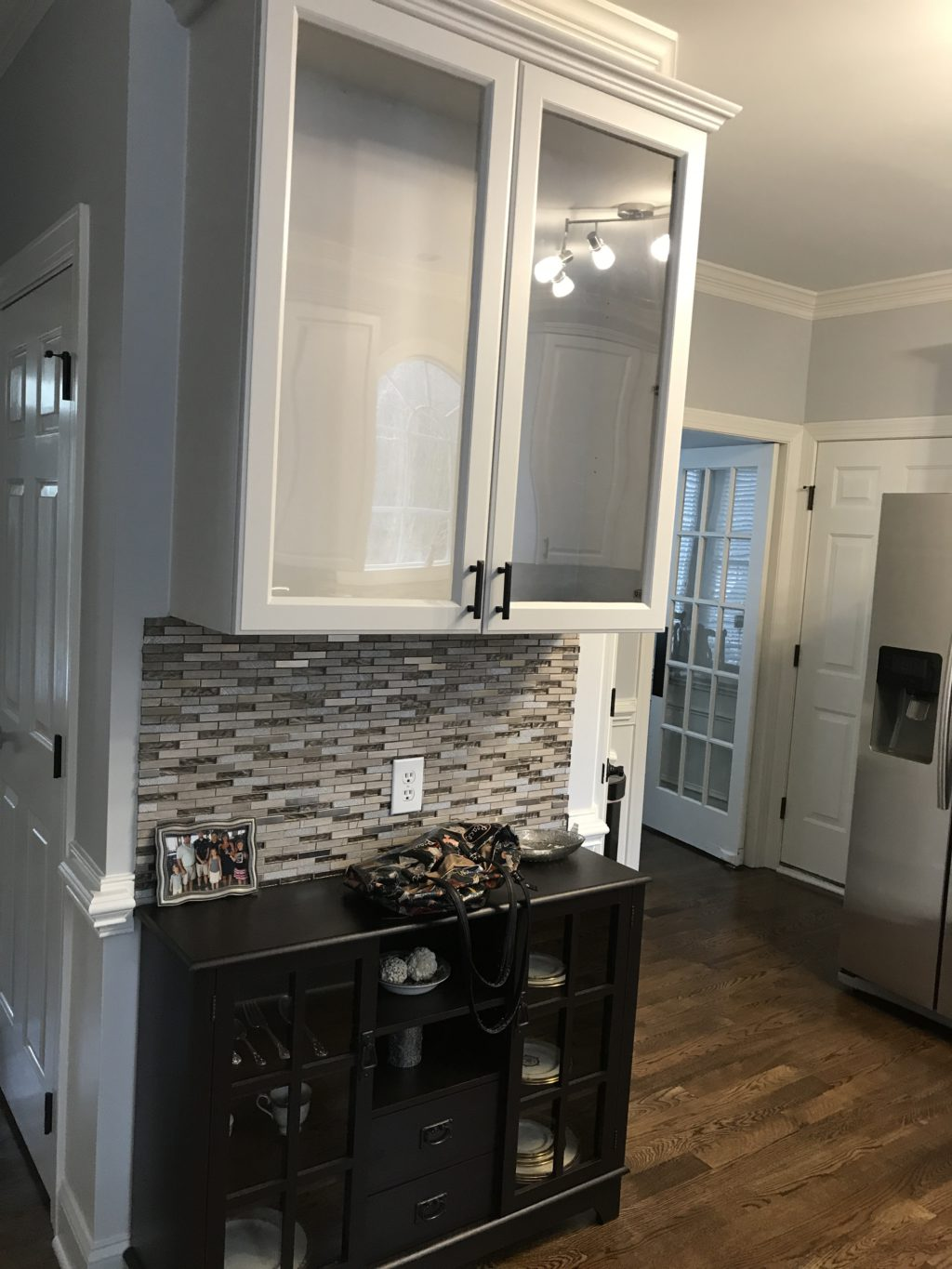redoing kitchen rustic furniture light french gray update - 2 cabinet girls