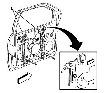 2003 Chevy Trailblazer Drivers Window Regulator: Other