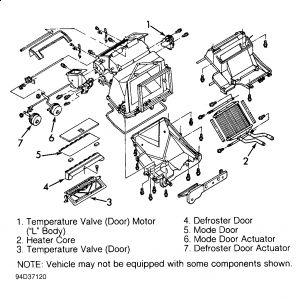 Diagram Of 2002 Buick Lesabre Heater Core, Diagram, Free