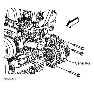 2003 Chevy Trailblazer ALTERNATOR: DIAGRAMS FOR CHANGING