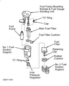 2001 Toyota echo fuel filter location