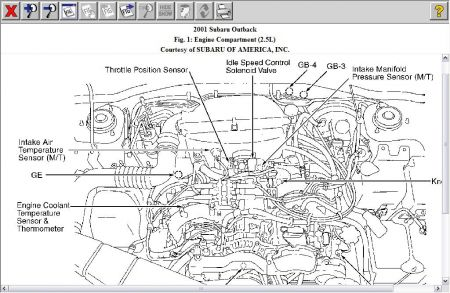 2001 Subaru Forester Engine Diagram, 2001, Free Engine
