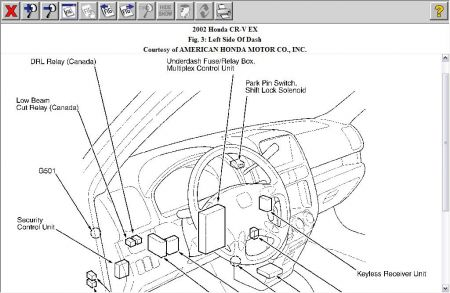 [Manual Solenoid Shifter Release 2003 Honda Cr V