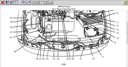 1998 Ford Contour Temperature Sensor: Engine Cooling