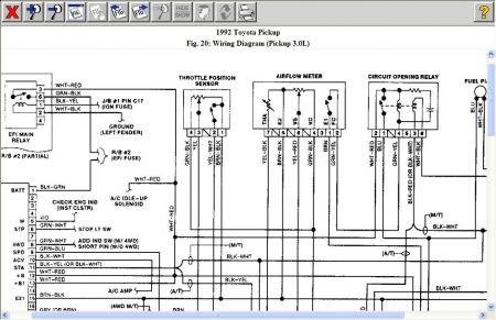 Wiring Diagram 1994 Toyota Pickup Efi