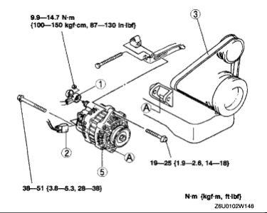 2002 Mazda 626 Altinator: Electrical Problem 2002 Mazda