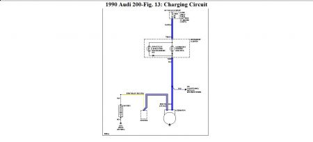 1990 Audi 200 Charge Problems: Electrical Problem 1990