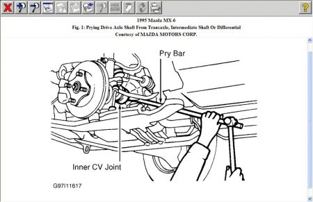 1995 Mazda MX6 Removing the Axles From the Transaxle