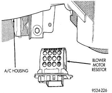 1998 Dodge Stratus Blower Motor Resistor Replacement