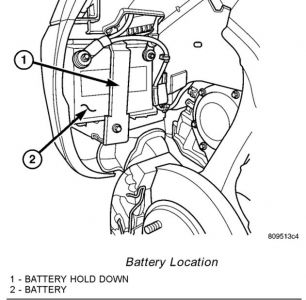 2004 Dodge Stratus Locate Battery: We Cannot Find the