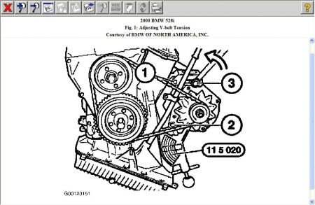 2000 Bmw belt diagram