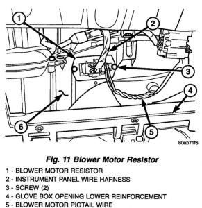 2001 Chrysler Town and Country: Where Is the Resistor for