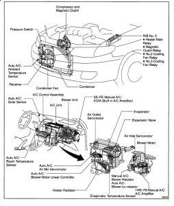 2000 Toyota Solara Blower Motor: the Blower Motor Only