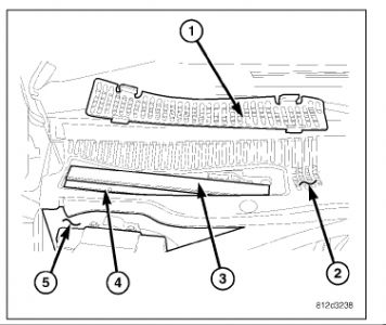 2006 Chrysler 300 Cabin Air Filter: Instructions on