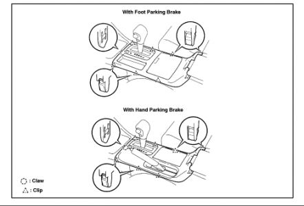 2007 Toyota Camry Interior Parts Diagram