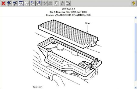 2000 Saab 9-3 Repair Question Location of Cabin Air Filter?