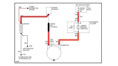 Chevrolet S10 Charging System Wiring Diagram 1989